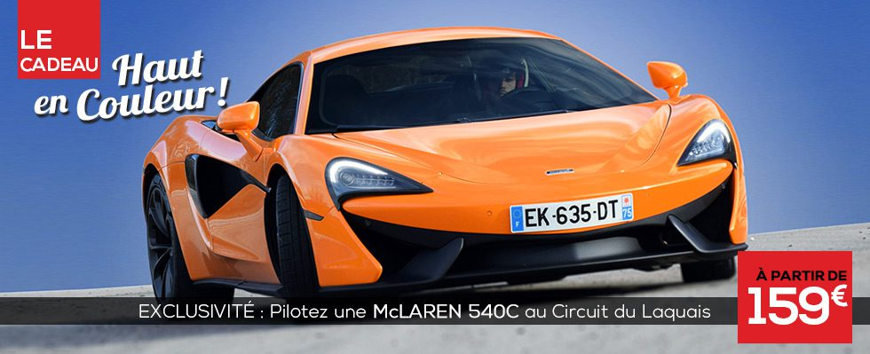 Stage de pilotage McLaren 540