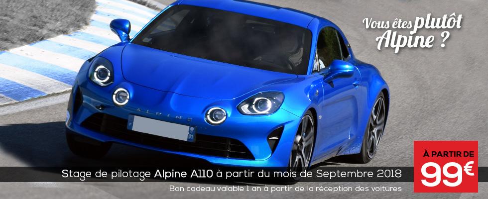 Stage de pilotage Alpine A110 au Circuit du Laquais