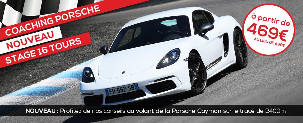 Stage de pilotage Porsche CAYMAN
